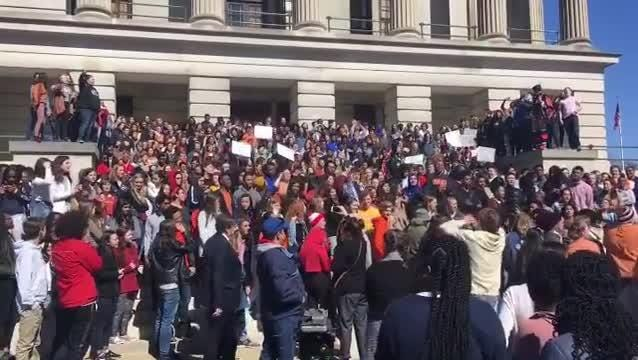National Walkout Day: Students at the state capitol