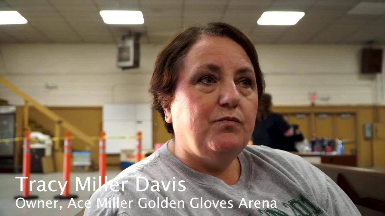 Tracy Miller Davis of the Ace Miller Golden Gloves Arena in Knoxville talks about hosting the organization's first tournament since the death of a UT student during a bout in February