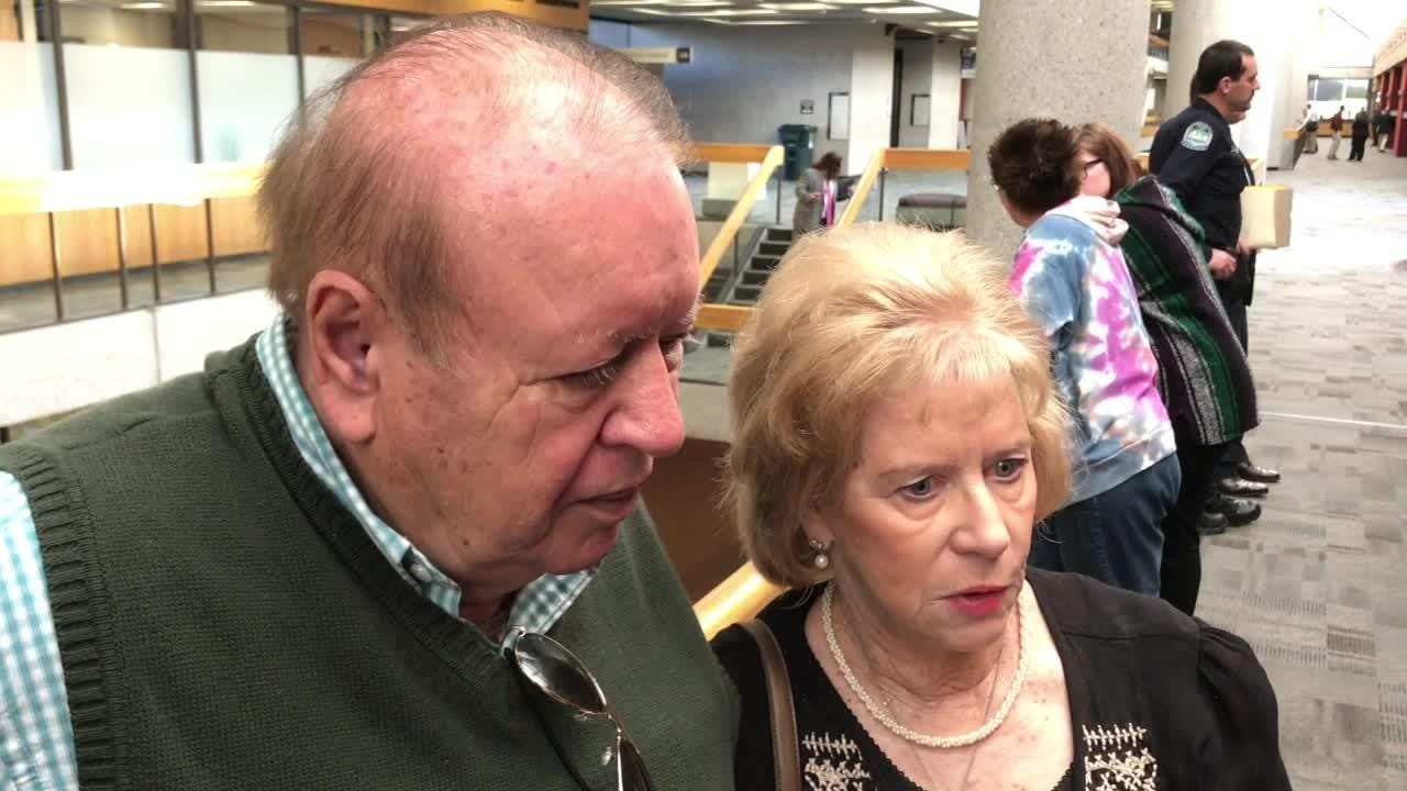Hugh and Mary Newsom talk about seeing Eric Boyd in a Knox County Criminal  Court Thursday