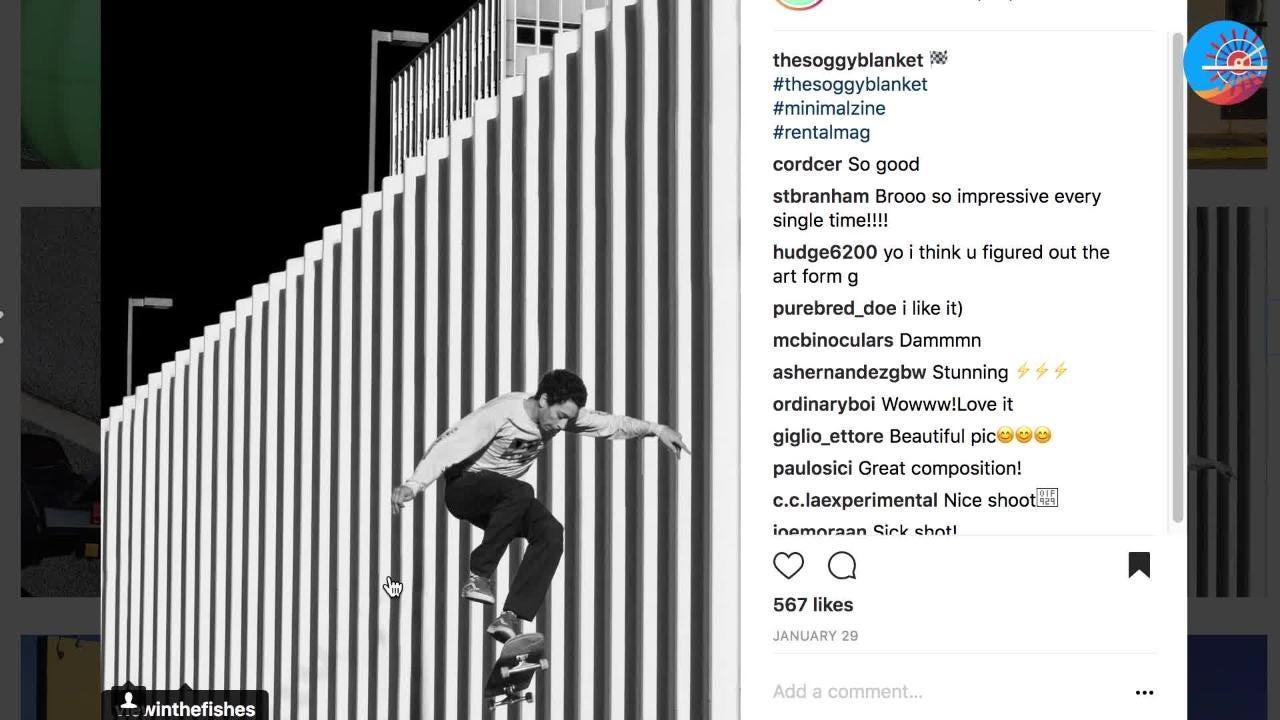 Jacob Mitchell is @thesoggyblanket on Instagram