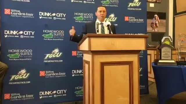 Longtime assistant Michael Fly was announced as the newest FGCU men's basketball coach on April 5, 2018.