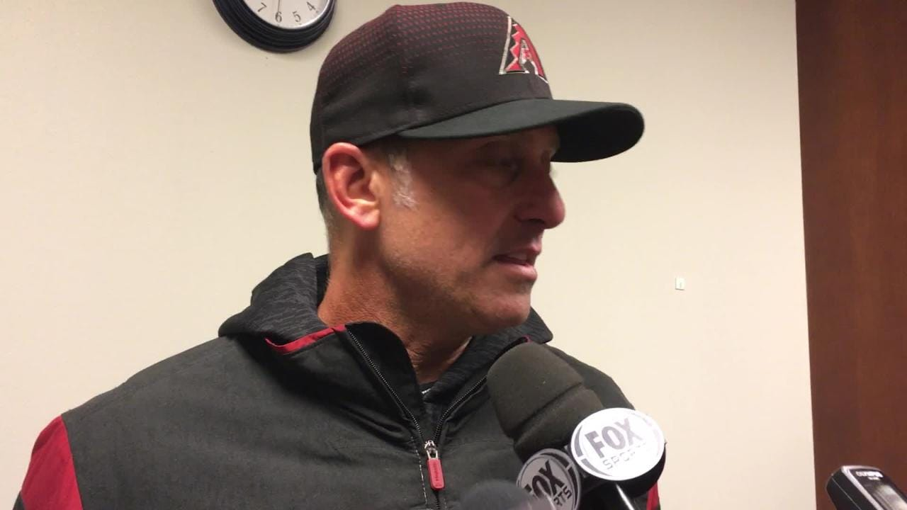 Diamondbacks manager Torey Lovullo talks about Robbie Ray's start on Thursday night, when he gave up one run in six innings against the Cardinals.