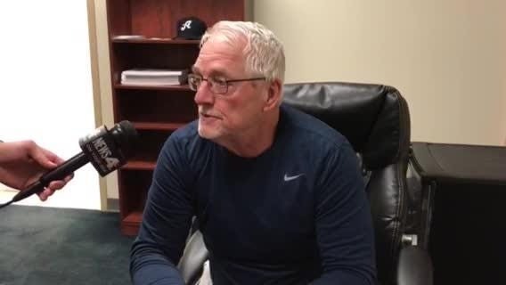 Reno Aces Manager Greg Gross  talks about Braden Shipley in the Aces 10-2 win Thursday.