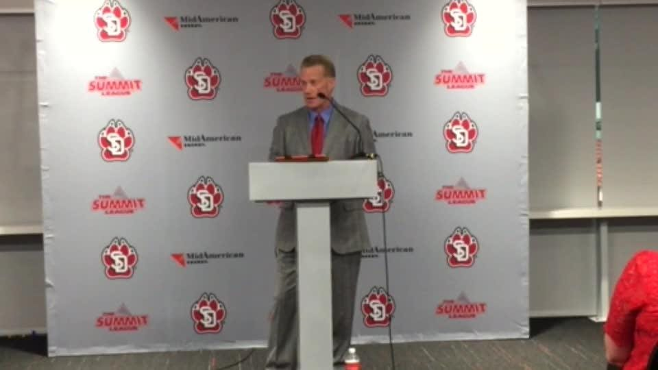 Watch as Todd Lee talks to the media and fans about being named the new USD basketball coach.