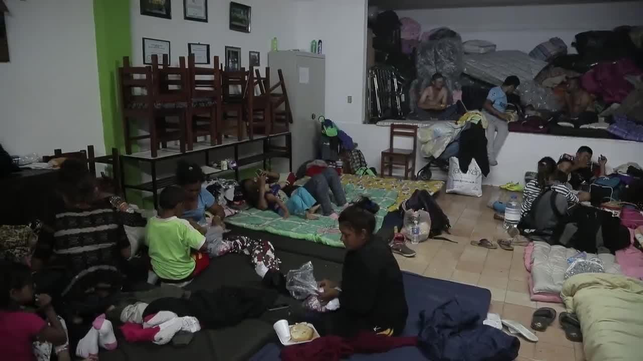 A church in Puebla, Mexico, has been converted into one of four shelters for several hundred migrants from Central America. Nick Oza/azcentral.com