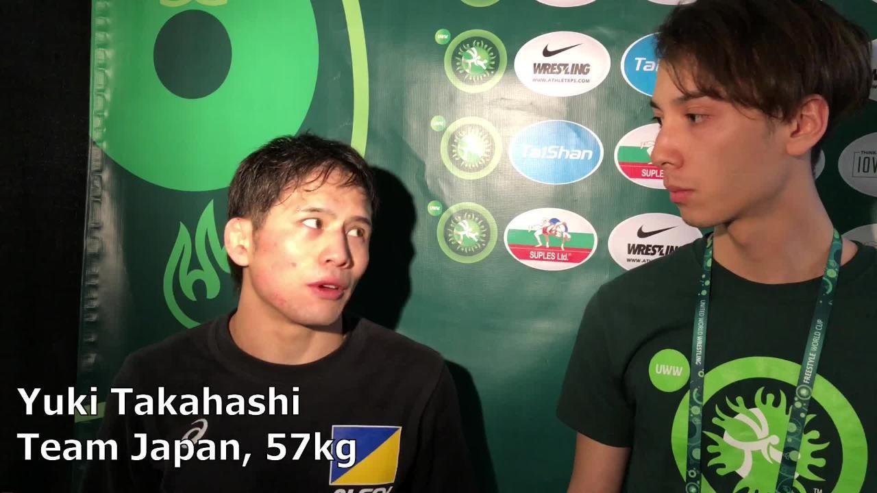 Japan's Yuki Takahashi, the defending world champion, discusses what makes USA's Thomas Gilman so good.