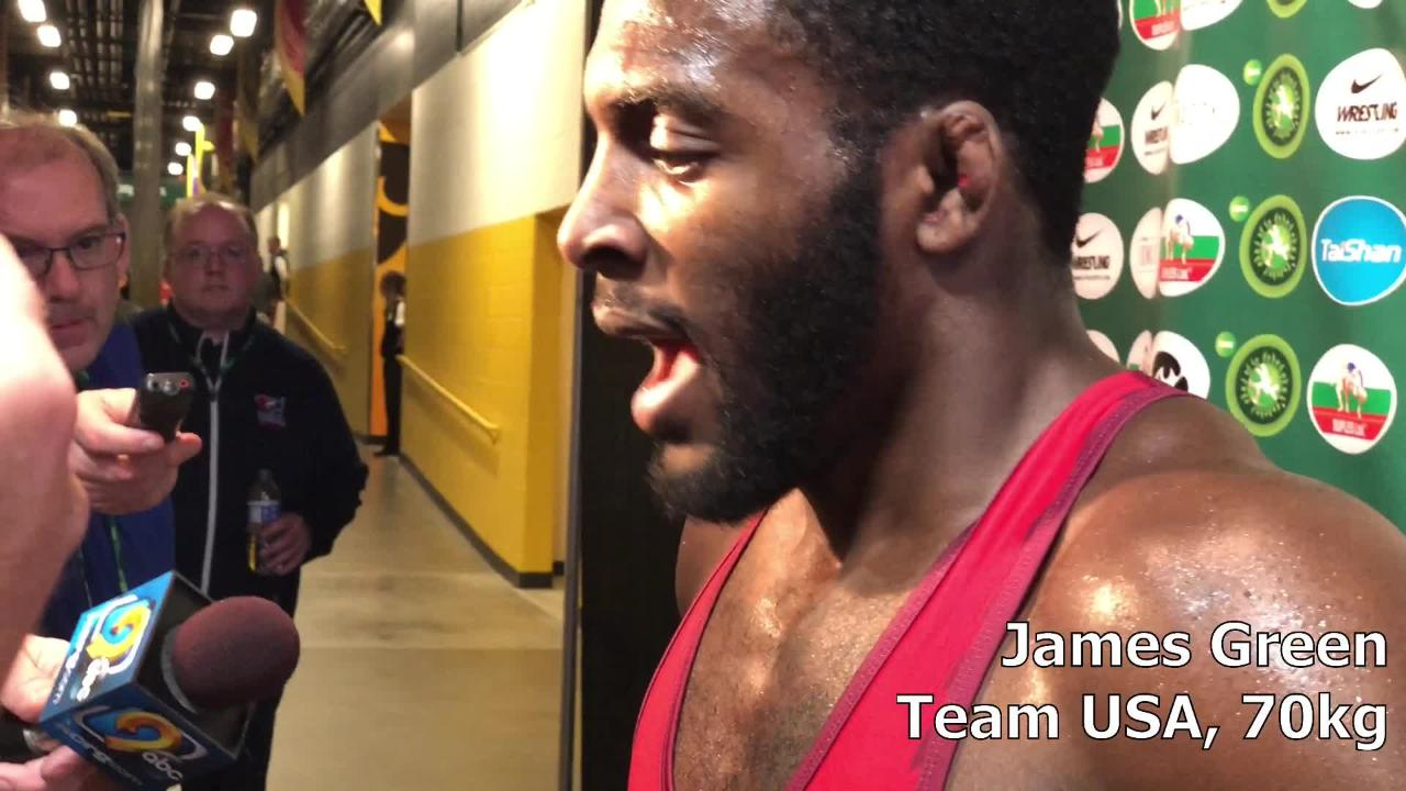 James Green, a two-time world medalist for Team USA, discusses what worked and what didn't on Saturday of the Wrestling World Cup.