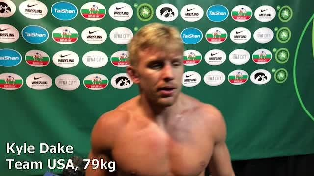 Kyle Dake went 2-0 for Team USA on Day One of the Wrestling World Cup on Saturday.