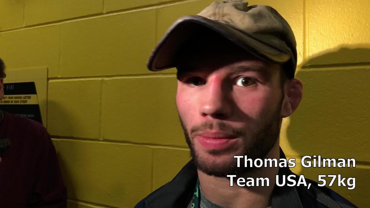 Team USA's Thomas Gilman reflects on his 4-1 loss to Japan's Yuki Takahashi on Day One of the 2018 UWW Freestyle World Cup.