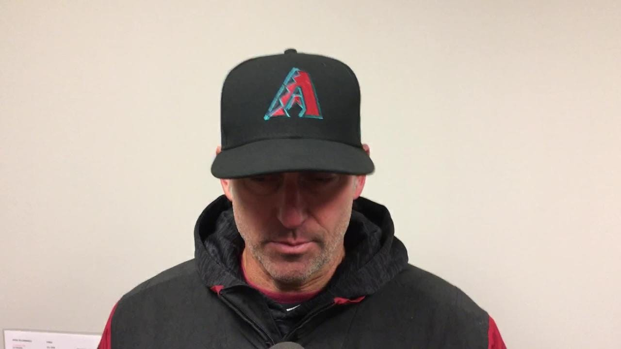 Diamondbacks manager Torey Lovullo talks about Zack Greinke's outing and his team's missed opportunities against Cardinals starter Michael Wacha.