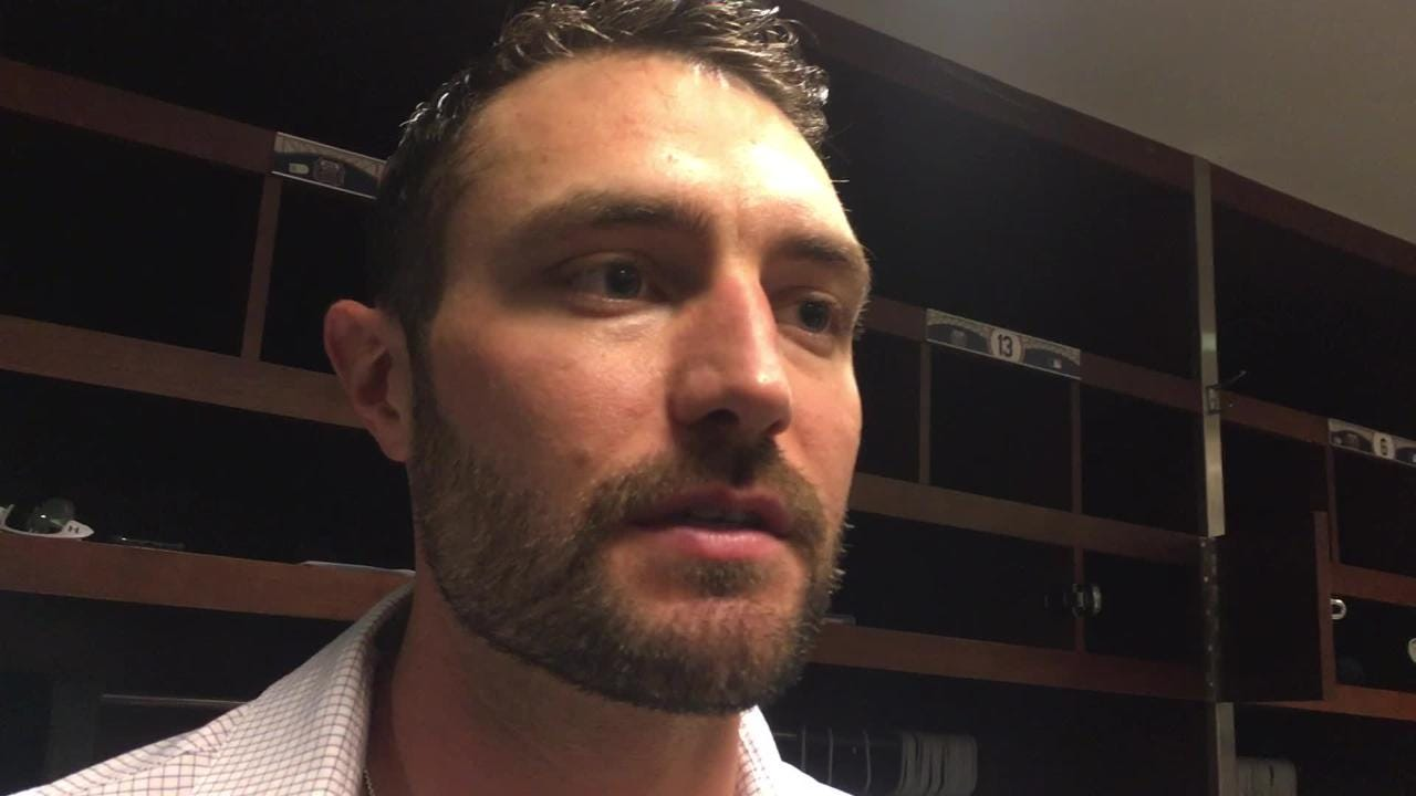 Diamondbacks center fielder A.J. Pollock gives his perspective of the incident that occurred in the second inning of Sunday's game.