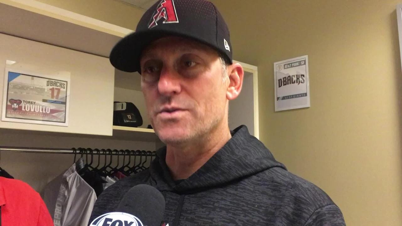 Diamondbacks manager Torey Lovullo talks about staying away from Brad Boxberger on Monday night and Zack Godley's performance.