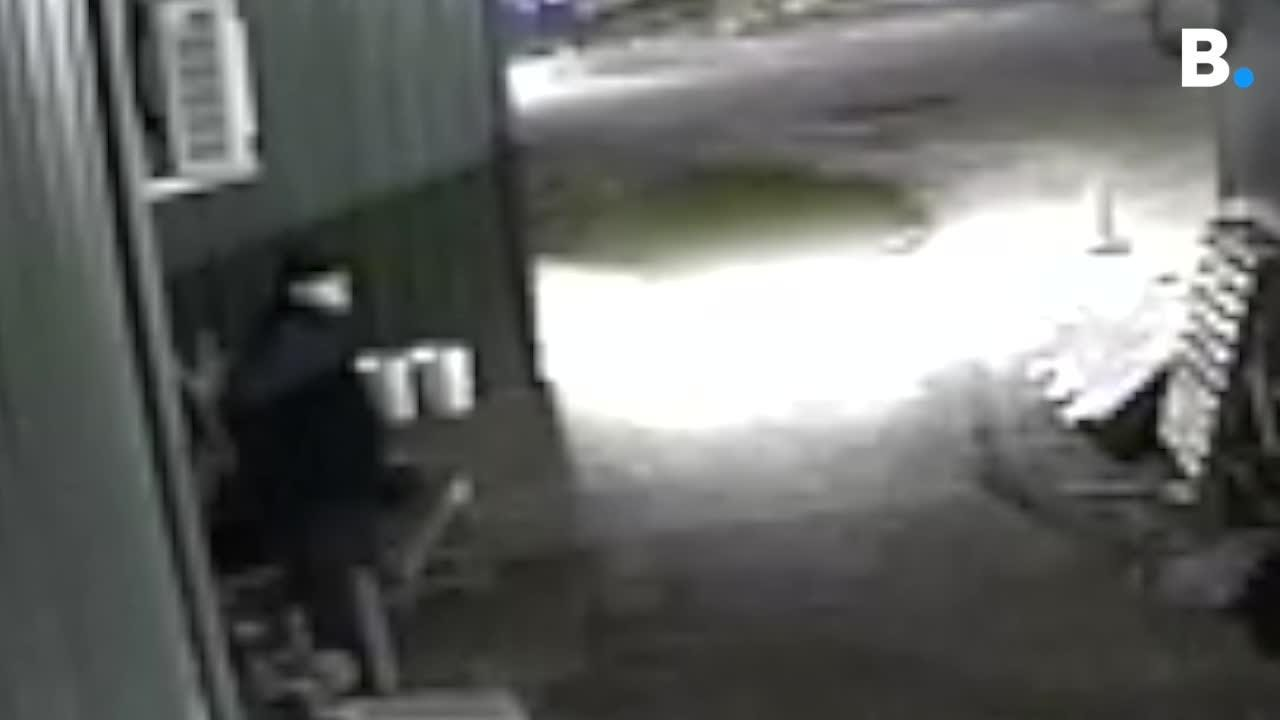 A burglar is caught of video in Taft Corners in Williston on Sunday, April 1, 2018. Williston police want you to call 878-6611 if you have info.