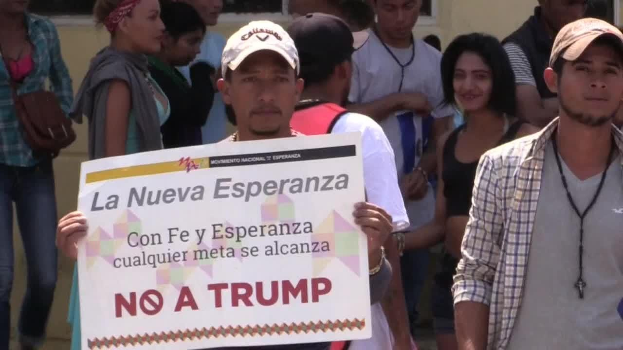 La Caravana de migrantes centroamericanos llegó a su destino, la Ciudad de México