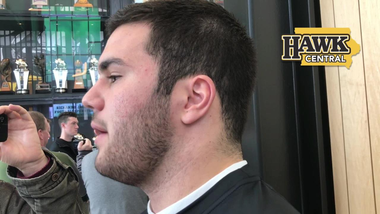 Iowa linebacker Jack Hockaday on waiting his turn to start and what he considers his biggest assets