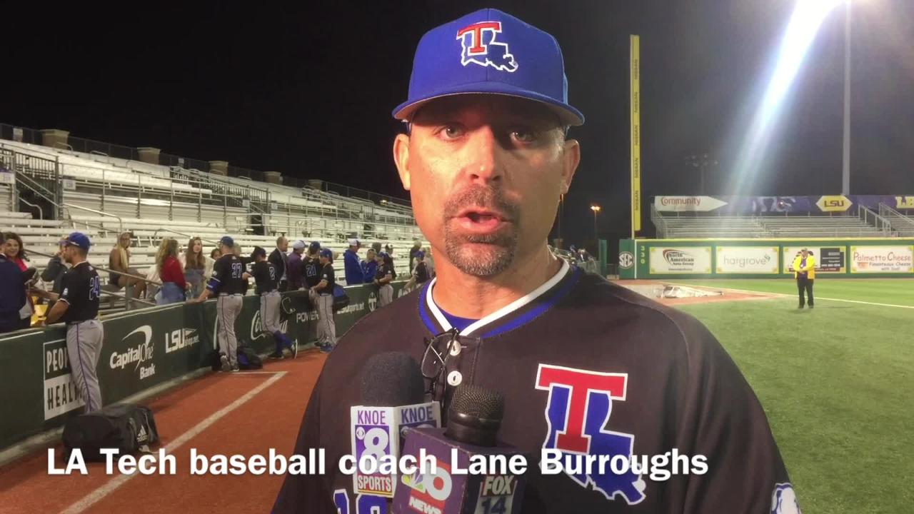 Louisiana Tech baseball coach Lane Burroughs shares the one mistake that cost his team at LSU Tuesday.