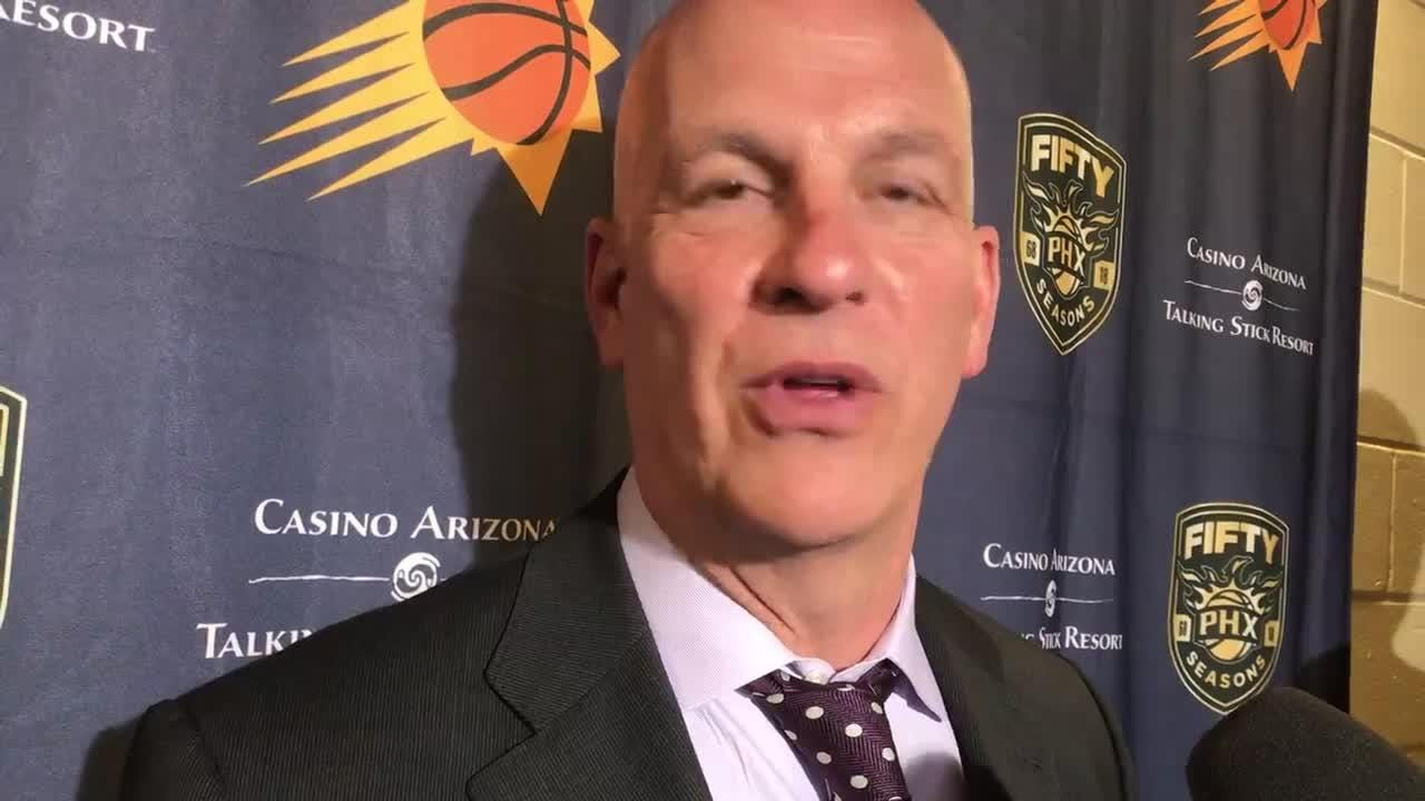 Suns interim Jay Triano discusses his team's season-ending win over the Mavericks on Tuesday.