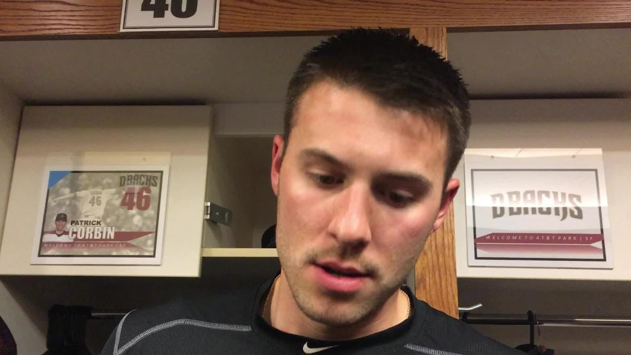 Diamondbacks pitcher Patrick Corbin talks about his rough sixth inning against the Giants on Tuesday night.