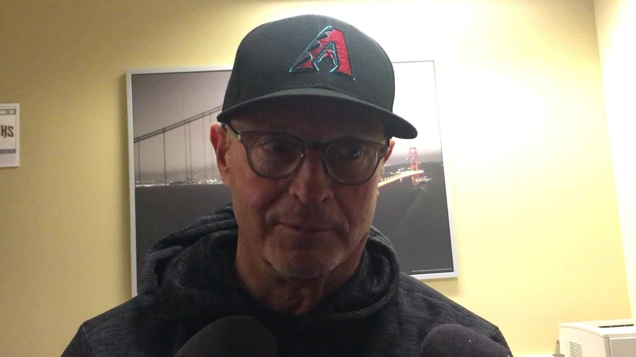 Jerry Narron, managing in place of the suspended Torey Lovullo, talks about the Diamondbacks' 5-4 loss to the Giants.