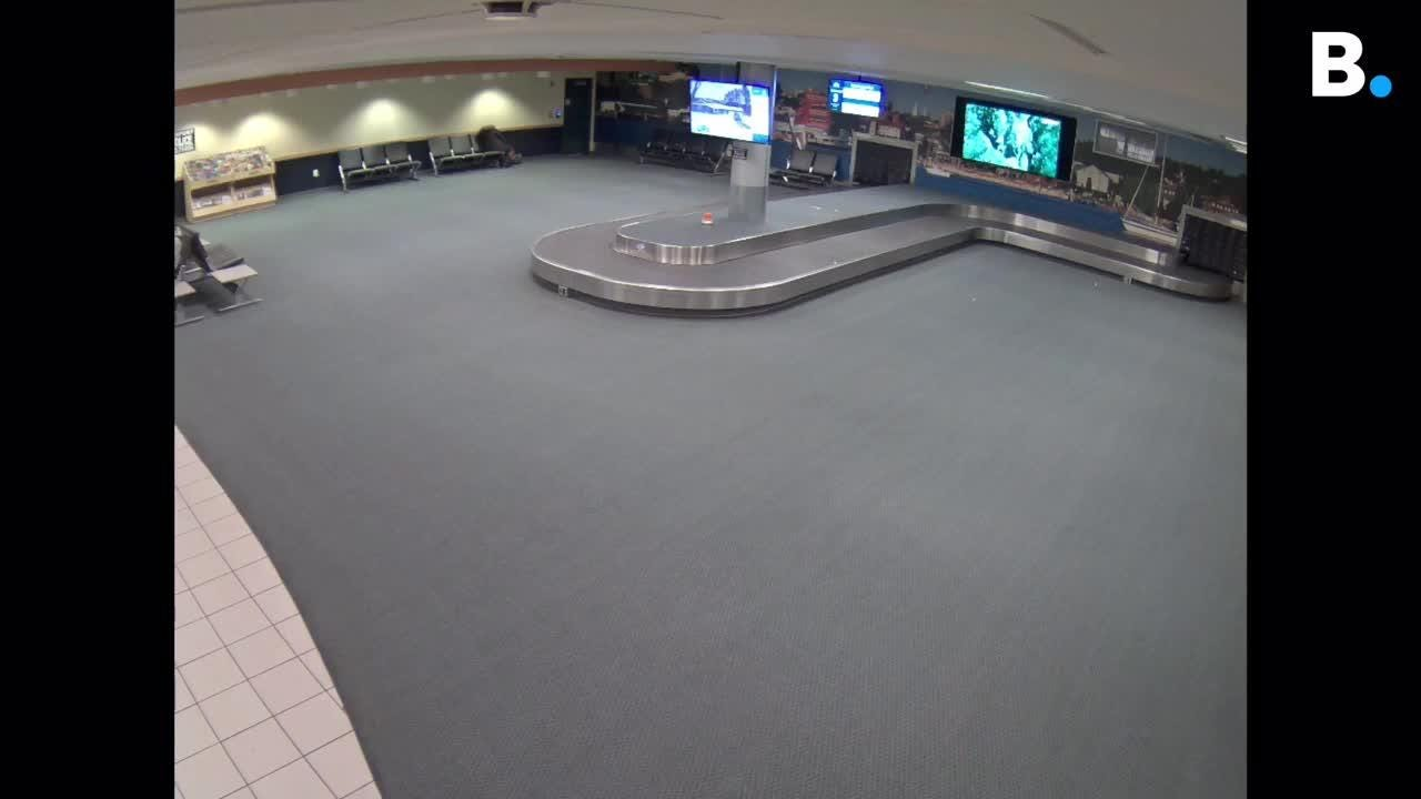 Burlington police released this video from a surveillance camera at Burlington International Airport in an effort to identify two female theft suspects.