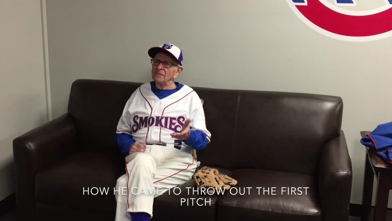 Moe Resner throws first pitch at Tennessee smokies home opener