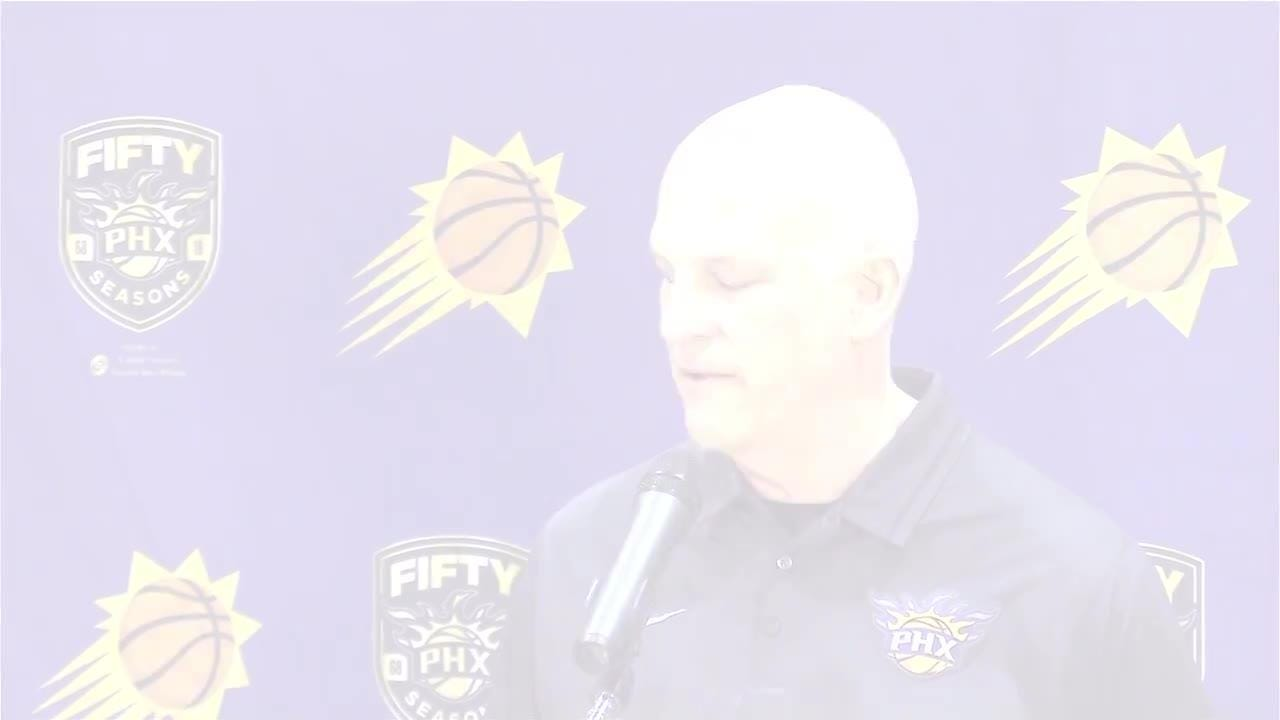 Suns coach Jay Triano and GM Ryan McDonough meet the press at Talking Stick Resort Arena on Wednesday to talk about the season and look ahead to next.