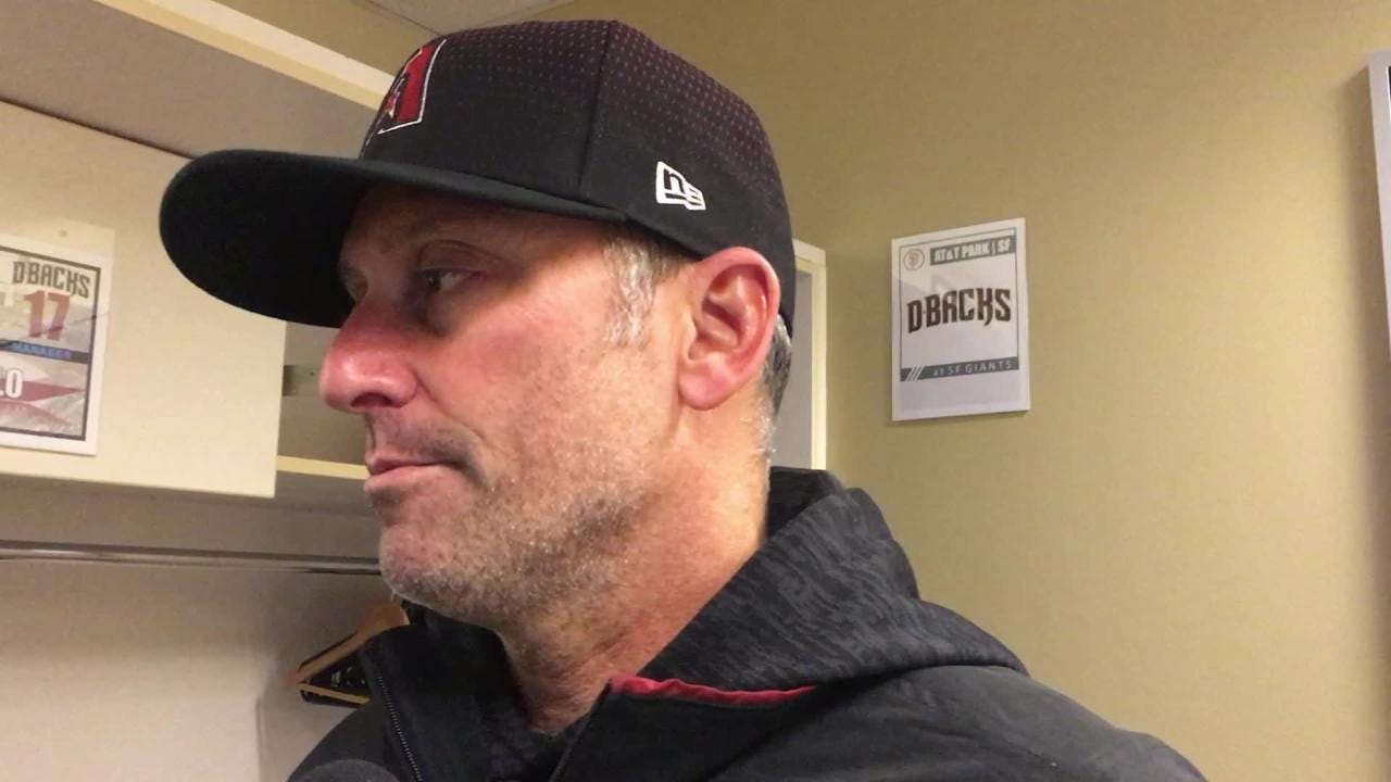 Diamondbacks manager Torey Lovullo talks about his team's 7-3 win over the Giants on Wednesday at AT&T Park.