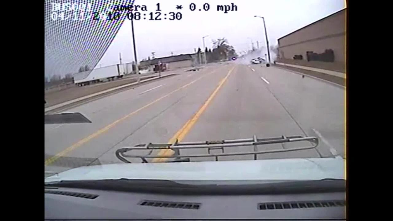 The fatal accident that occurred Wednesday at 24th Street and Dove Road was captured on the dash cam of a nearby bus. Note: Length of the video has been edited.