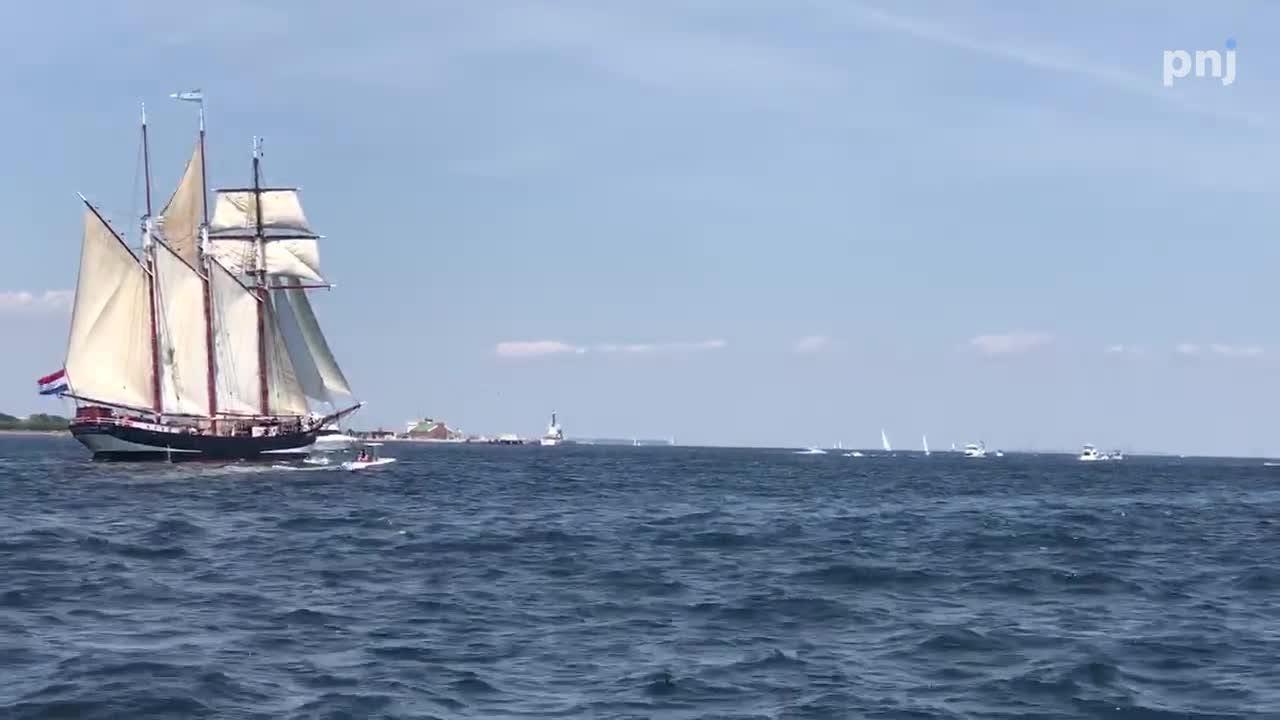 Video: Tall Ships sail through Pensacola Pass
