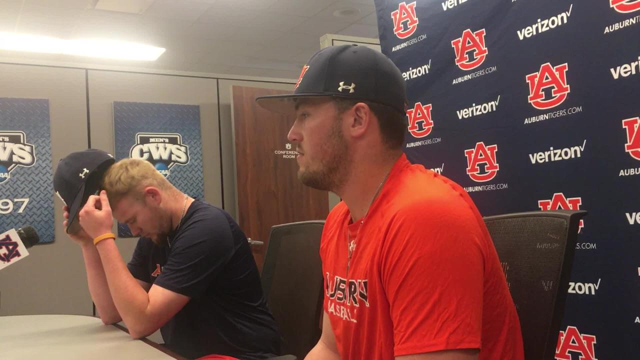 Auburn players Conor Davis and Cody Greenhill talk about the locker room attitude after the team's recent skid.