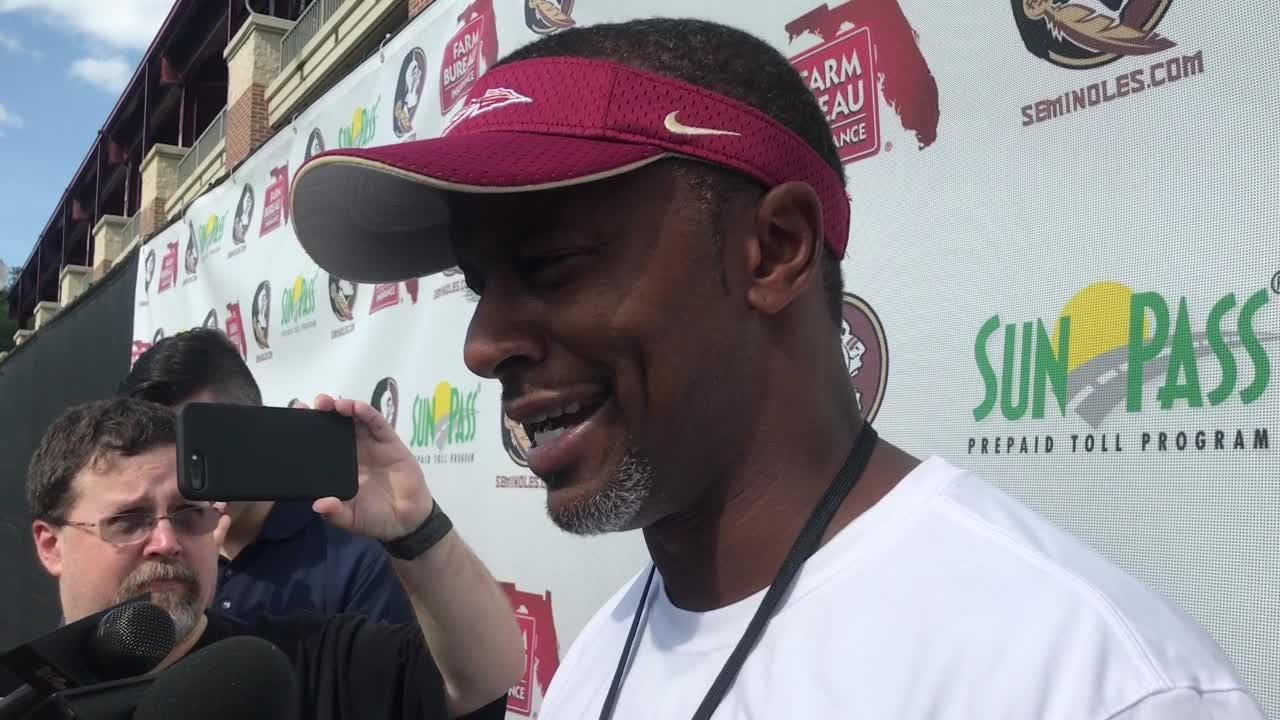 FSU head coach Willie Taggart speaks to the media on Thursday, April 12.