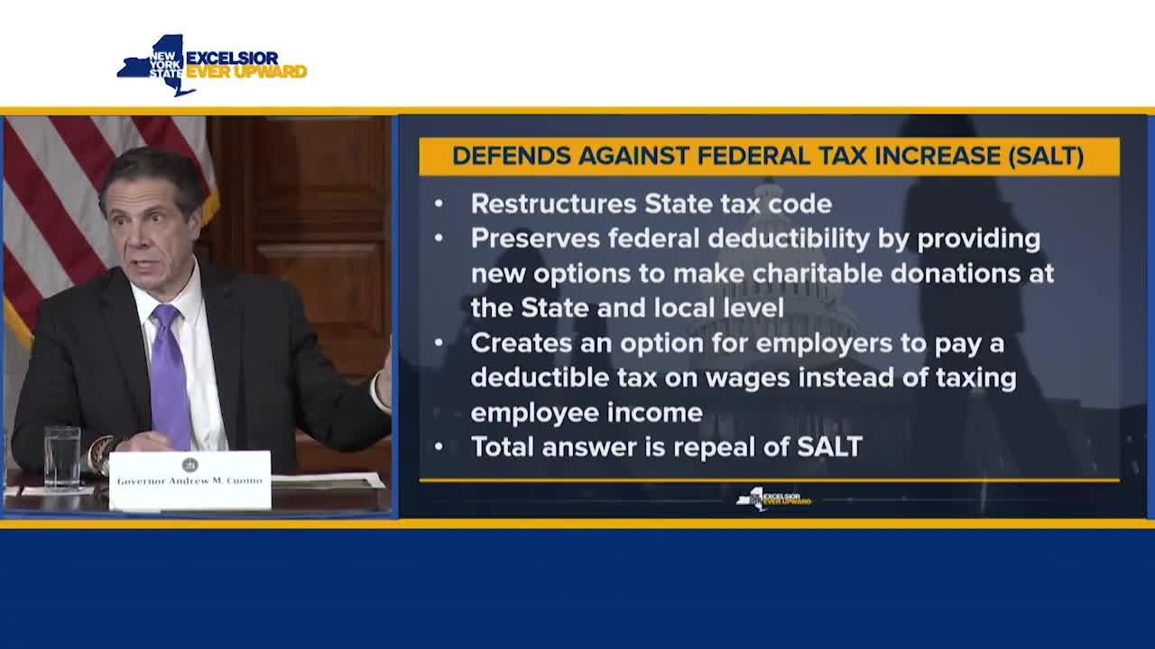 Gov. Andrew Cuomo discusses changes to New York's tax code in the wake of the federal tax plan. His comments came on March 30, 2018.