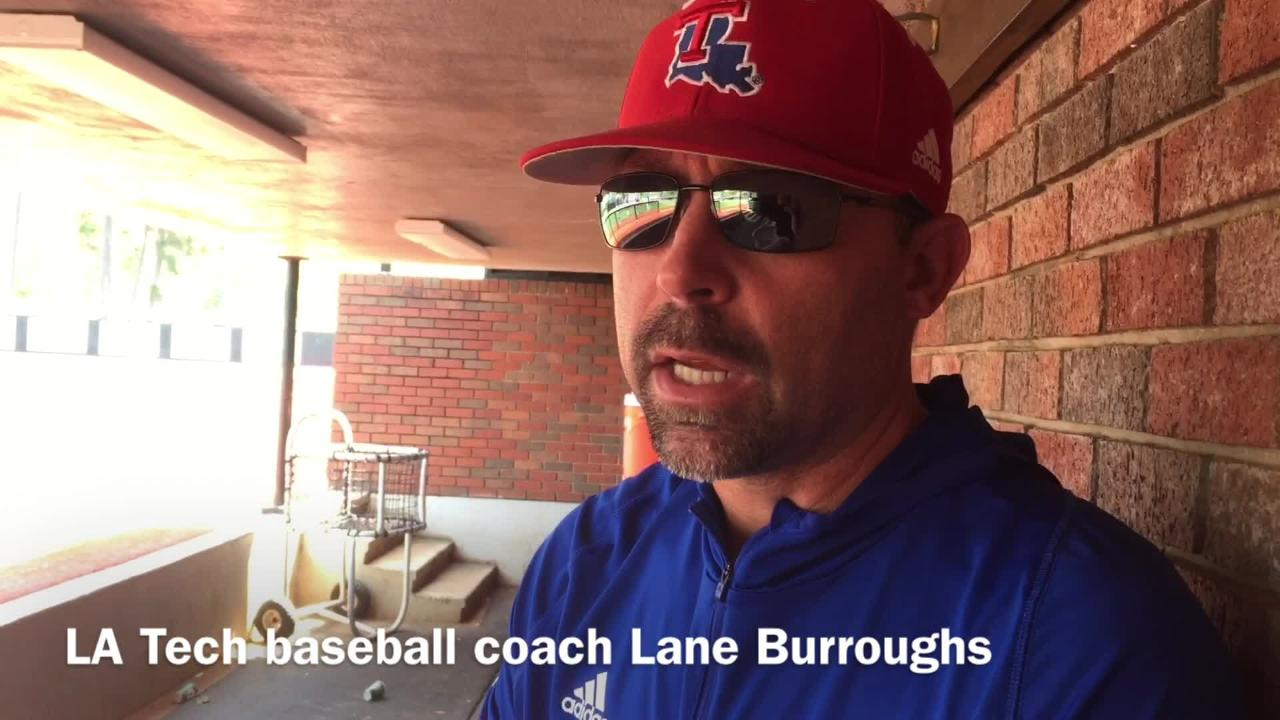 Louisiana Tech baseball coach Lane Burroughs explains how Logan Robbins' elbow injury made him a better pitcher.