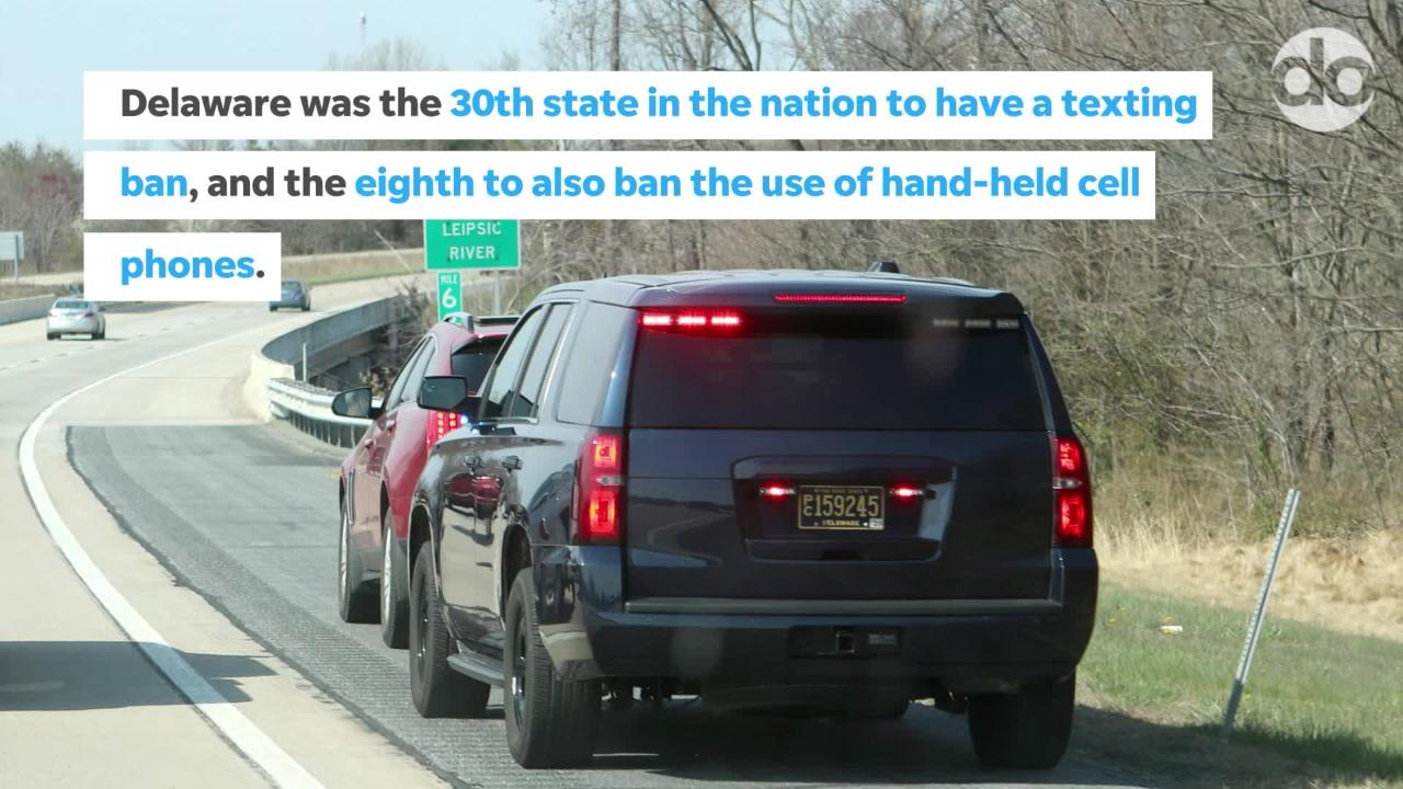 A joint venture with the Delaware State Police and Delaware Office of Highway Safety will target distracted driving in Kent County.