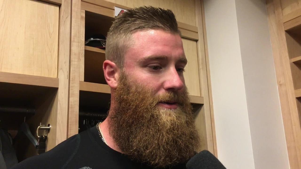 Archie Bradley discusses some of the bad-luck hits the D-Backs allowed to the Dodgers in an 8-7 win on Friday night.