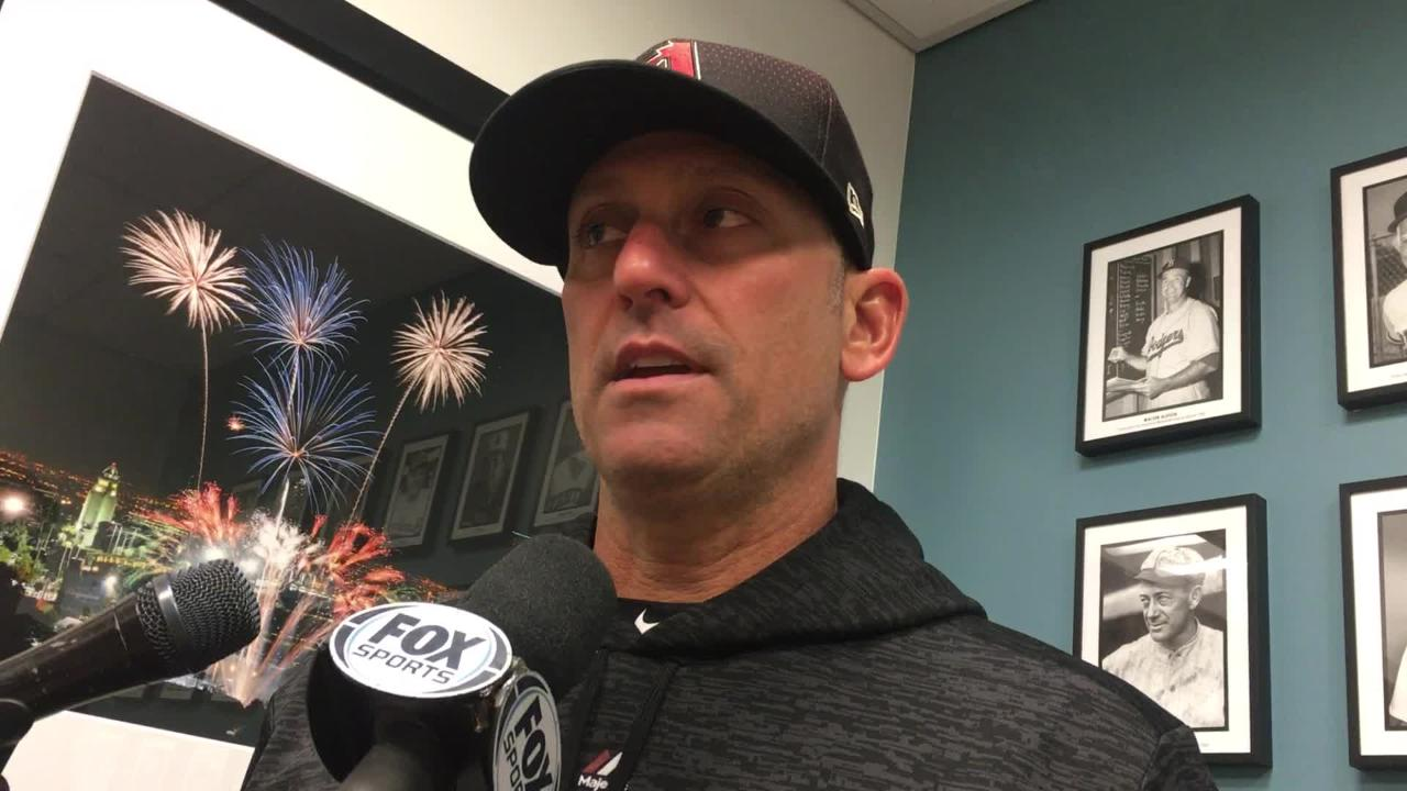 Diamondbacks manager Torey Lovullo talks about Zack Greinke's outing and his team's win over the Dodgers on Friday.