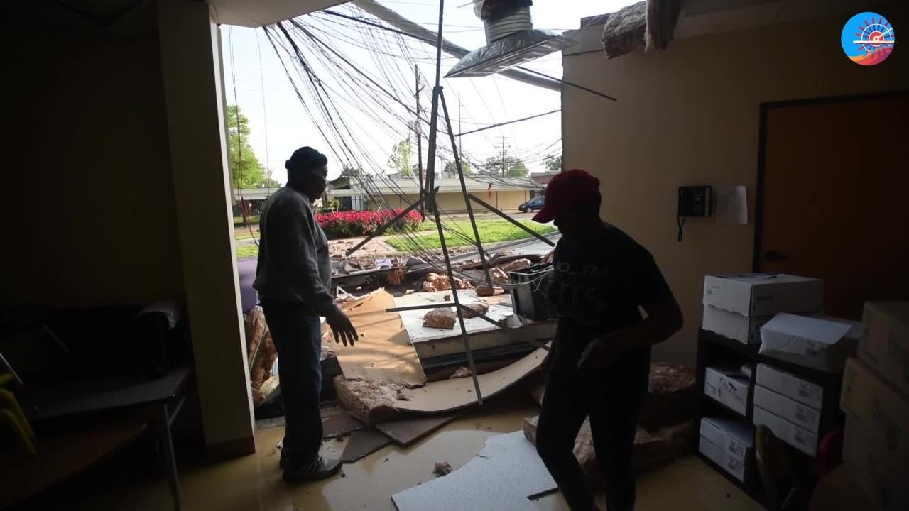 Damage at Galilee Learning Center