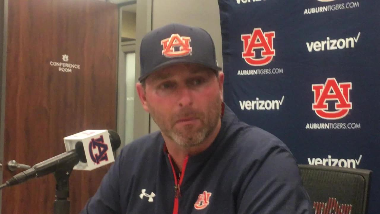 Auburn coach Butch Thompson talks about Davis Daniel and the team after 7-2 loss to MSU.