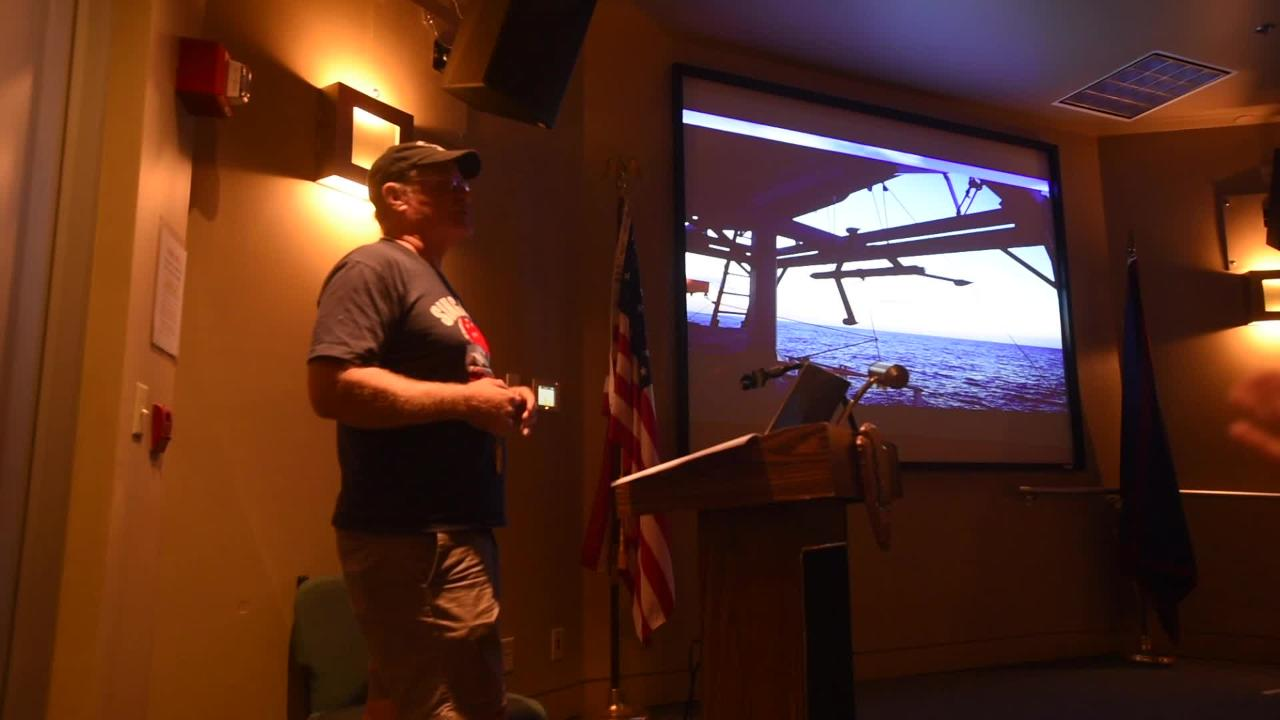 Attendees were treated to a whale presentation by Brent Tibbatts, a fisheries biologist for the Guam Department of Agriculture's Division of Aquatic and Wildlife Resources, during Science Sunday at the T. Stell Newman Visitor Center in Sumay on April 15, 2018.
