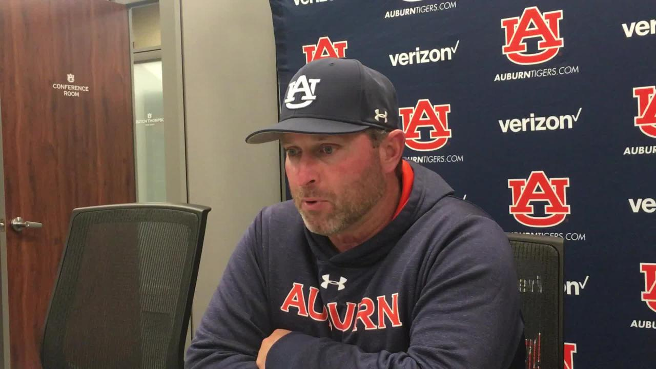 Auburn head coach Butch Thompson after 7-5 win over Mississippi State