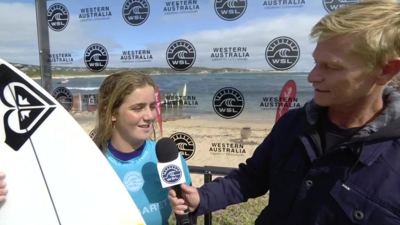 Surfer Caroline Marks talks about her amazing start on the world tour