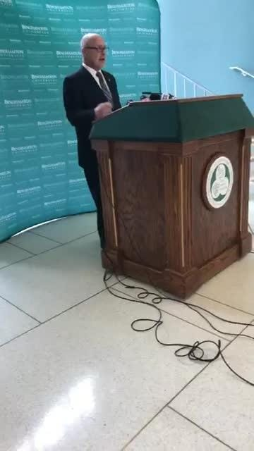 Watch the full news conference from Binghamton University: Freshman student Joao Souza fatally stabbed on Vestal campus.