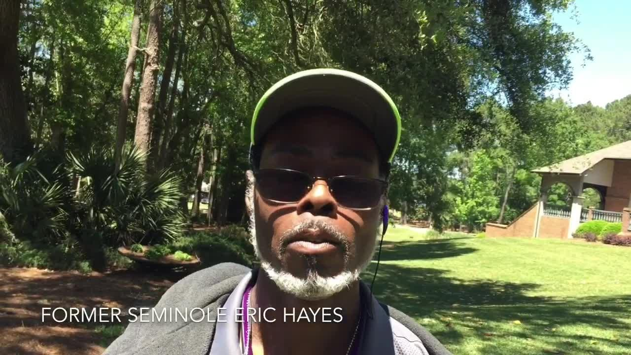 Former FSU defensive tackle Eric Hayes has enjoyed weekend activities surrounding spring game