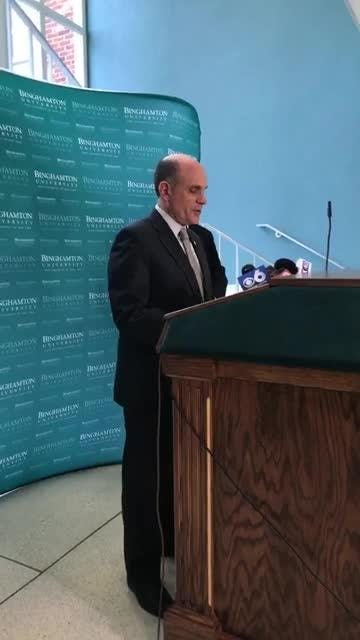 Vice President of Student Affairs Brian Rose and Chief of Police Timothy Faughnan give updates on the fatal stabbing of freshman Joao Souza.