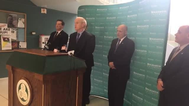 Broome County District Attorney Steve Cornwell announced the suspect in the death of Binghamton University freshman Joao Souza is in custody.