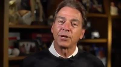 Famous coach Nick Saban does 'lemon face challenge' for girl fighting brain cancer
