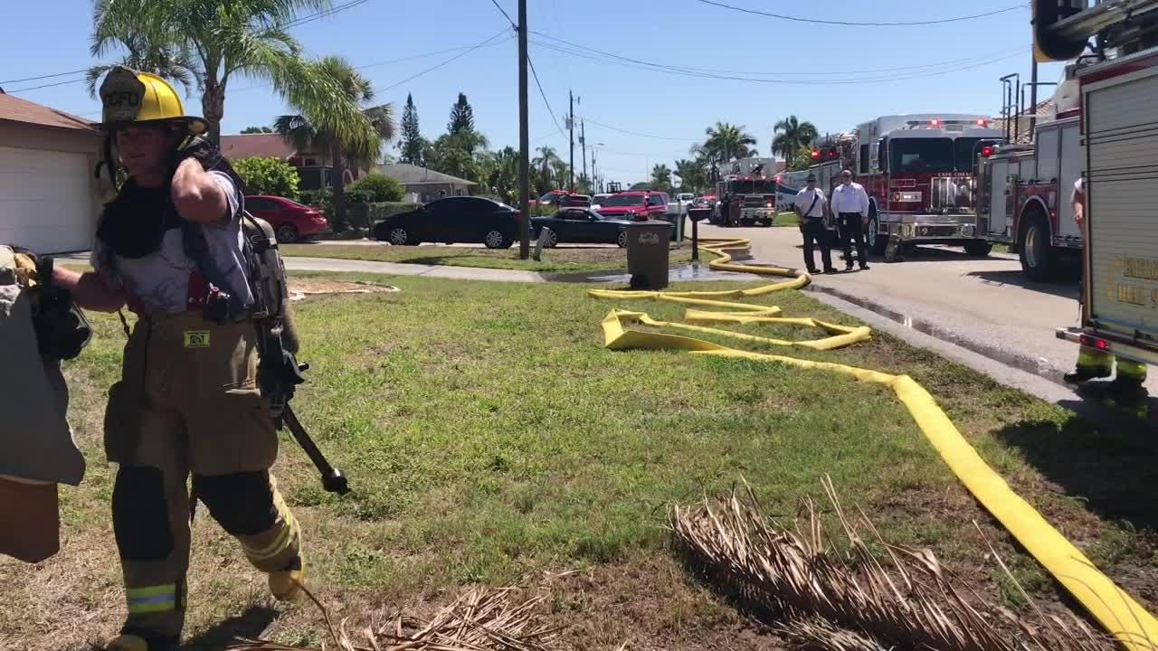 Cape Coral firefighters worked the scene of a house fire on SE 29th Street on Tuesday, April 17, 2018