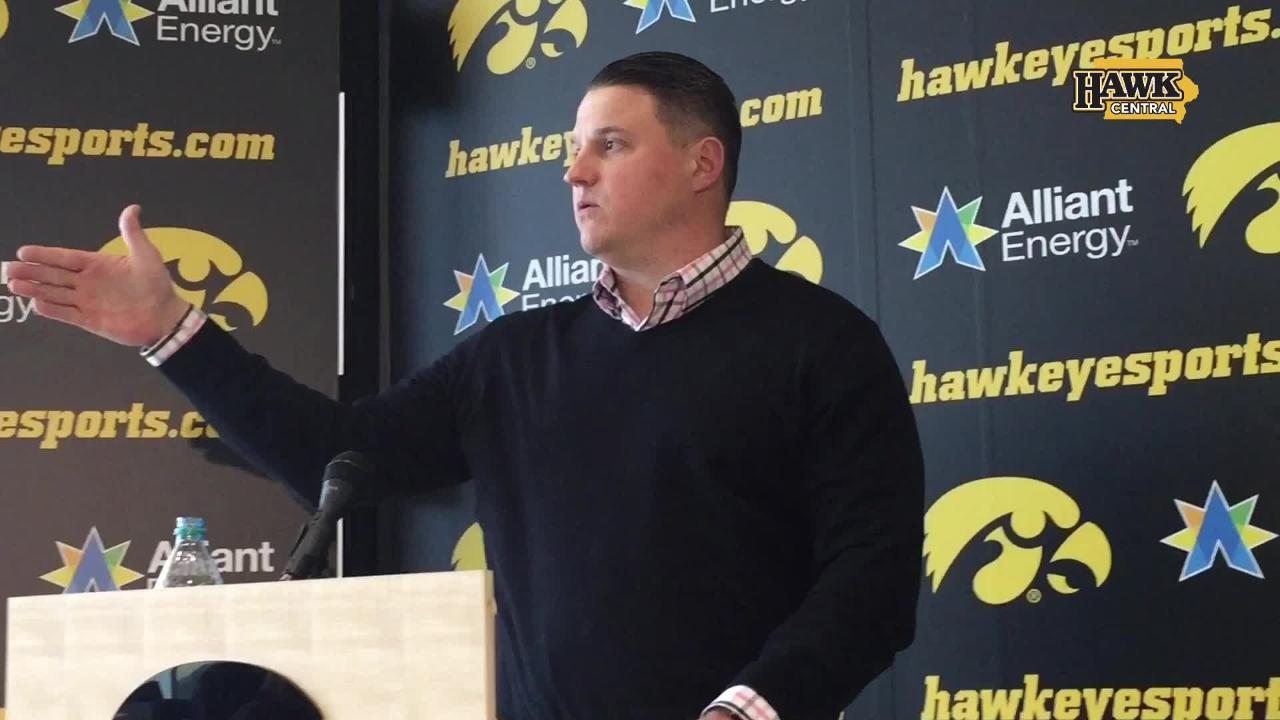 Iowa offensive coordinator Brian Ferentz discusses football consistency, the Death Star, Luke Skywalker and Iowa vs. Wisconsin and Ohio State.