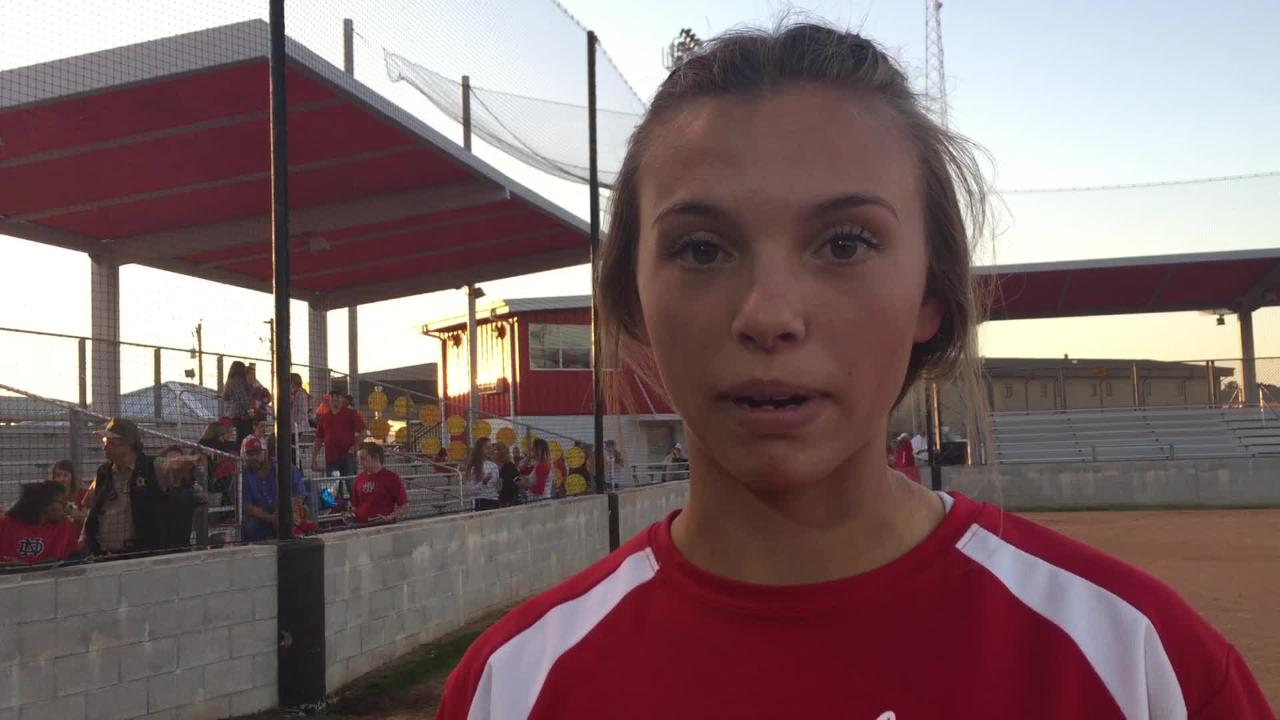 North DeSoto's Britlyn Garrett talks about playoff win