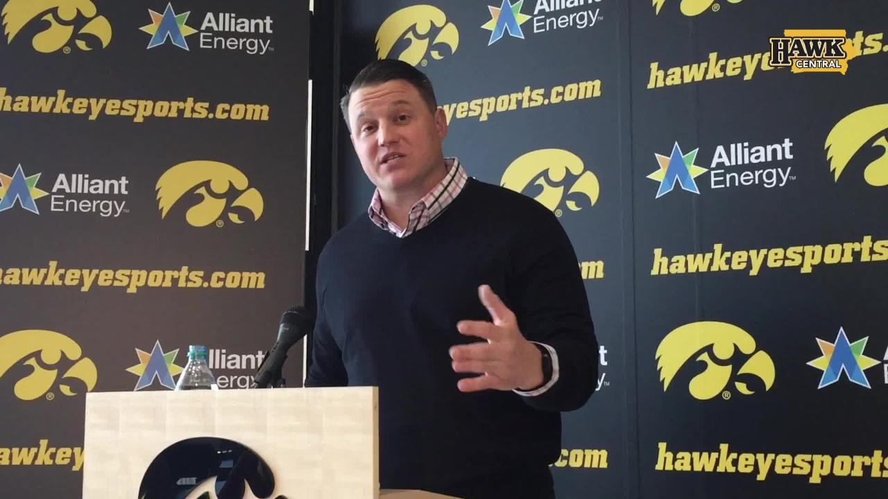 Iowa offensive coordinator Brian Ferentz discusses the key numbers he looks for. Warning: It's not a big surprise.